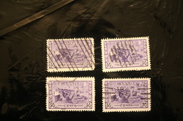Canada 261 Artillery Munitions Used Four Copies WYSIWYG 1942-43  A04s - 1937-1952 Reign Of George VI