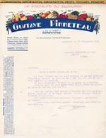 49 ALLONNES COURRIER 1938  Spécialté Du SaumuroiS  Fruits Légumes PINNETEAU  X30 Maine Et LOIRE - France