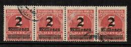 GERMANY  Scott # 272 VF USED STRIP Of 4 (Stamp Scan # 454) - Germany