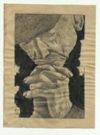 """DISEGNO A CHINA """"  MANI  CHE PREGANO """"  DI  A.P. 1953 - FORMATO CM.14X10,5 - Prints & Engravings"""