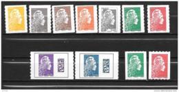 2018 - Marianne L'engagé - Série De 11 Timbres - Adhesive Stamps