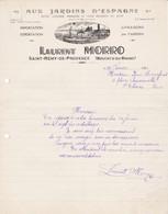 13 ST REMY DE PROVENCE COURRIER  1942  Aux Jardins D' Espagne  Fruits Laurent MORRO X30 Bouches Du Rhône - France