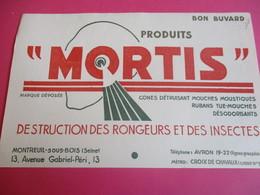 Buvard/Destructions Des Rongeurs Et Des Insectes / MORTIS/Cones Et Rubans / MONTREUIL Sous BOIS/ Vers 1945-1960  BUV367 - Animaux