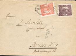 Czechoslovakia 1920 - Postal Cover Welmschloss - Berlin - Tchécoslovaquie