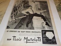 ANCIENNE PUBLICITE ON LE RECONNAIT DES TROIS MATELOTS 1960 - Affiches