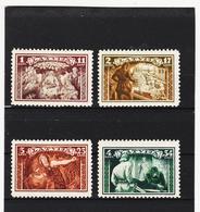 AUA1211 LETTLAND 1932 MICHL 193/96 (*) FALZ SIEHE ABBILDUNG - Lettland