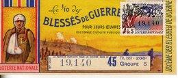 France - 240 - Blessés De Guerre - 45 ème Tranche 1957 - Loterijbiljetten