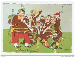 HUMOUR ILLUSTRATEUR DUBOUT SANS LÉGENDE - Éd. DU MOULIN 1958 N° 14 A - CHASSE - NON CIRCULÉE - 2 Scans - - Dubout