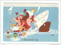 HUMOUR ILLUSTRATEUR DUBOUT SOUVENIR DE - Éd. DU MOULIN 1957 N° 9 A - NON CIRCULÉE - 2 Scans - - Dubout