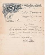 84 CARPENTRAS COURRIER 1902  Fruits Confits Au Sirop  Conserves Alimentaires FOURMEN  X30 Vaucluse - France