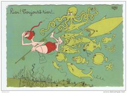 HUMOUR ILLUSTRATEUR DUBOUT RIEN TOUJOURS RIEN - Éd. DU MOULIN 1958 N° 18 A - PIEUVRE - NON CIRCULÉE - 2 Scans - - Dubout