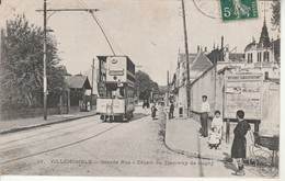 Villemomble-Grande Rue-Départ Du Tramway De Gagny. - Villemomble