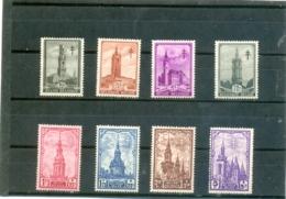 1939 BELGIQUE Y & T N° 519 à 526 ( * ) La Série - Neufs