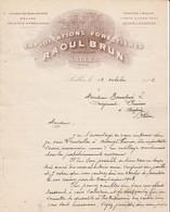 33 SALLES COURRIER 1912  EXPLOITATIONS FORESTIERES  Bois  Usine à AUDENGE  Raoul BRUN X30 Gironde Les Landes - France