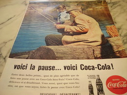 ANCIENNE PUBLICITE VOICI LA PAUSE COCA COLA 1960 - Manifesti Pubblicitari