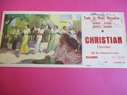 Buvard/Mode Masculine / CHRISTIAN / Chemisier/ Toute La Mode Masculine/ROANNE/ Sirven  / Vers 1945-1960  BUV366 - Textile & Clothing