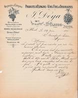 39 SAINT CLAUDE COURRIER 1916 Produits D' Espagne  VINS DEYA X30 JURA St - France