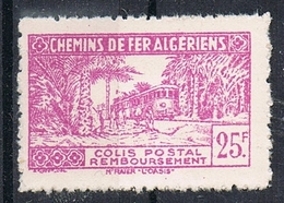 ALGERIE COLIS POSTAL N°158 N*  Variété Sans Surcharge - Algérie (1924-1962)