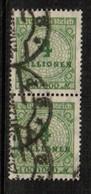 GERMANY  Scott # 284 VF USED PAIR (Stamp Scan # 454) - Germany