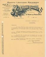 13 ST REMY DE PROVENCE Bouches Du Rhône COURRIER 1935 Fruits Légumes DENANTE  X30 SALON Saint - France