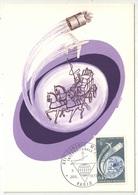 CM - Carte Maximum Card - 1972 - YT 1721 - XXIe Congrès De L'Internationale P.T.T. Paris - Cartes-Maximum