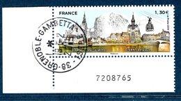 France 2019.Dinan France Et Dinant Belgique.Cachet Rond Gomme D'Origine. - France