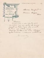 07 ST ETIENNE De VALOUX COURRIER 1925 Menuiserie Mécanique Jean BIENNIER   X30 Ardèche Sarras - France