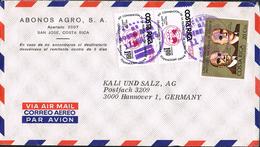 Costa Rica 1975 Postal Cover San Jose - Hannover (Germany) - Costa Rica
