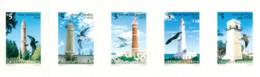 URUGUAY 1997 - Phares Et Oiseaux -  Lighthouses And Birds - 5 V. Se Tenant - Uruguay