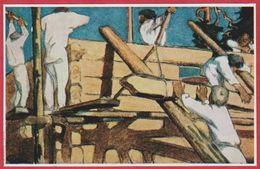 """Illustration De Gallen-Kallela Pour Une édition  De L'oeuvre """"Les Sept Frères"""". Finlande. Encyclopédie De 1970. - Vieux Papiers"""