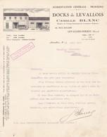 92 LEVALLOIS PERRET COURRIER 1925 Alimentation Générale Docks De LEVALLOIS Camille BLANC X30 - France