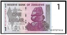 Zimbabwe 1 DOLLAR 2007 P 65 UNC ( Zimbabue  ) - Zimbabwe