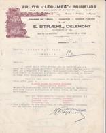 SUISSE DELEMONt Jura COURRIER 1924 Fruits Légumes  STRAEHL  X30 - Suisse