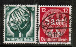 GERMANY  Scott # 444-5 VF USED (Stamp Scan # 454) - Germany