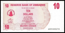 Zimbabwe 10 Dollars 2006 P 39 UNC  ( Zimbabue  ) - Zimbabwe