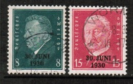 GERMANY  Scott # 385-6 VF USED (Stamp Scan # 454) - Germany