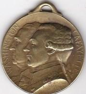 MEDAILLE WASHNGTON LAFAYETTE CCCHATEAU THUIERRY 18 JUILLET 1918 - France