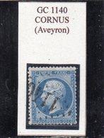 Aveyron - N° 22 Obl GC 1140 Cornus - 1862 Napoléon III