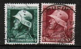 GERMANY  Scott # 452-3 VF USED (Stamp Scan # 454) - Used Stamps