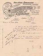 63 CUNLHAT COURRIER 1924 Fers & Aciers DUCLOS X30 Puy De Dome - France