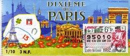 France - 249 - Dixième De Paris - 6 ème Tranche 1962 - Loterijbiljetten