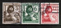 GERMANY  Scott # 481-3 VF USED (Stamp Scan # 454) - Germany