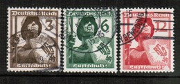 GERMANY  Scott # 481-3 VF USED (Stamp Scan # 454) - Used Stamps