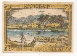 ALLEMAGNE / GERMANY - KAMERUN KOLONY - 75 PFENNIG 1922 / SERIE A - [12] Colonie & Banche Straniere