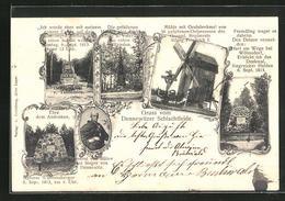 AK Dennewitz, Mühle Mit Grabdenkmal, Denkmal Siegreicher Helden 1813, General Von Bülow-Portrait - Deutschland