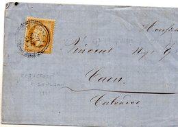 Aveyron - LAC (incomplète, Prix Courant Cave) Affr N° 21 Obl Tàd Type 22 Roquefort-sur-Soulson - Postmark Collection (Covers)