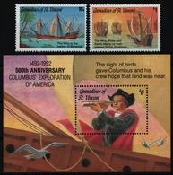 St. Vincent-Grenadinen 1992 - Mi-Nr. 962-963 & Block 114 ** - MNH - Schiffe - St.Vincent Und Die Grenadinen