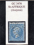 Aveyron - N° 22 (déf) Obl GC 3476 Saint-Affrique - 1862 Napoléon III