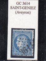 Aveyron - N° 60A (déf) Obl GC 3614 Saint-Geniez - 1871-1875 Cérès