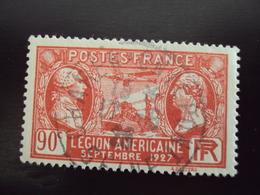 """A Partir De 1920 - Timbre Oblitéré N°   244 """"   Lafayette, Légion Américaine Rouge    """"          0.90 - France"""